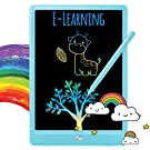 TEKFUN LCD Writing Tablet Doodle Board, 10inch Colorful Drawing Tablet Writing Pad, Girls Gifts Toys for 3 4 5 6 7 Year Old Girls Boys (Blue)