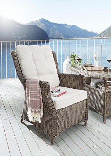 Destiny Gartensessel Casa Vintage Braun Loungesessel Sessel Polyrattan Sofasessel