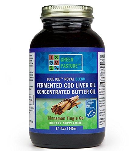 Green Pasture Blue Ice Royal Butter Öl & Fermentierter Lebertran GEL/Zimt/Cinnamon 240 ml