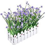 Pianta di fiori resistenti ai raggi UV artificiali con vaso per recinzione per la decorazi...