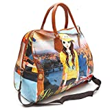 XENOTY Women's Polyester Printed Hobo Bag Hand Bag, Shopping Mall Shoulder Luggage Bag (Multicolored)