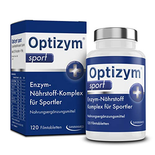 OPTIZYM Sport Enzym-Komplex I Hochdosiert Papain & Bromelain Enzyme & Montmorency Sauerkirschen, Kurkuma, Boswellia Weihrauch, schwarzer Pfeffer, B-Vitamine Komplex und Zink (120 Tabletten)