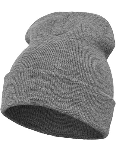 Flexfit Mütze Heavyweight Long Beanie, heather grey, one size