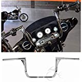 XFMT Chrome 1 1/4' 14' Rise Ape Hanger Handle Bar Compatible with Harley Touring Dressers Baggers 1982-2020