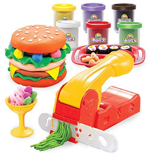Kit de herramientas para masa, accesorios para amasar para niños, juguetes para herramientas de plastilina, herramienta para modelar juguetes de cocina, juego de herramientas para amasar, regalo