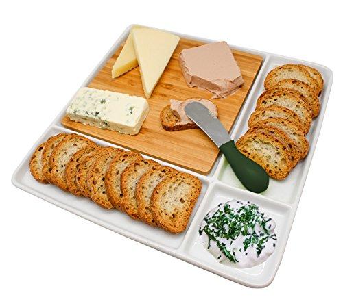 NERTHUS FIH 336 - Plato de snacks de porcelana, para servir, plato de Aperetivos