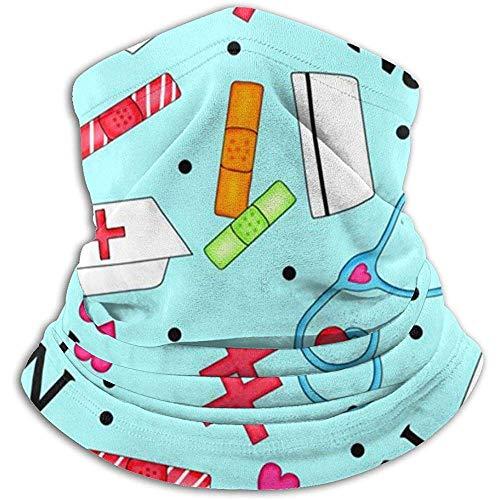 Scaldacollo in pile - Divertente infermiere con scaldacollo a tubo, bandana, fascia per capelli, berretto