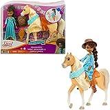 Spirit Pru con Chica Linda Festival Muñeca articulada con vestido y con caballo de juguete con crin y cabeza articulada (Mattel GXF64)