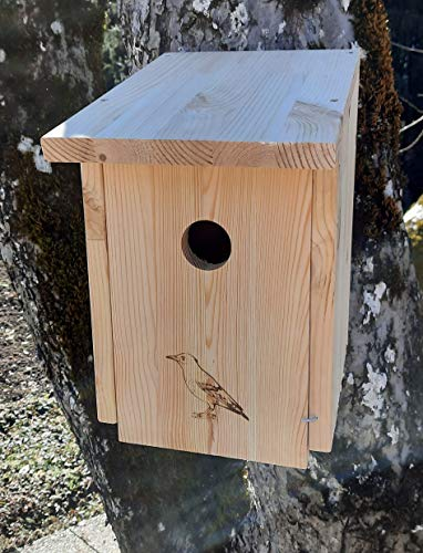 Garten und Holztrends Nistkasten Bausatz (NB45) Vogelhaus für Star - aus witterungsbeständigen 18mm starkem Kiefernholz mit 45mm Einflugloch