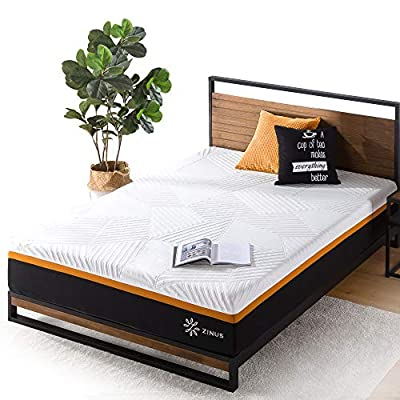 ZINUS 12 Inch Cooling Copper Adaptive Pocket Spring Hybrid Mattress/Moisture Wicking Cover/Cooling Foam/Pocket Innersprings for Motion Isolation/Mattress-in-a-Box, Queen
