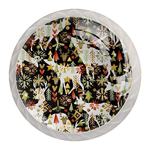 Pomelli rotondi per porte in vetro, 4 pezzi, con viti, per armadi, cassetti, armadietti da cucina, cassetti