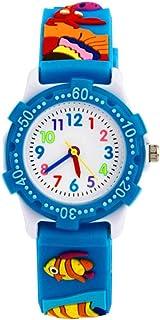 Hemobllo Kids 3D Wrist Watches Students Analog Watch Quartz Watch Waterproof for Kids Children