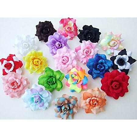 10//100X Artificial Silk Carnation Flowers Heads Buds Petals Bouquets Craft Decor