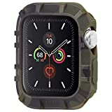 【Pelican by Case-Mate】 抗菌ウォッチバンパー ペリカン Protector Bumper - Camo Green/w Micropel for Apple Watch 42-44mm Series 1/2/3/4/5/6 and SE PP043398