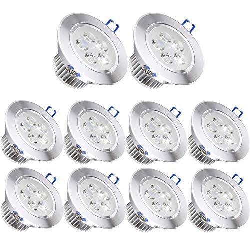 10 Pack,Pocketman 110V 5W Dimmable LED Ceiling Light Downlight,Cool White...