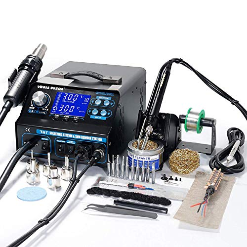 YIHUA 992DA+ 4 IN 1 HOT AIR REWORK SOLDERING IRON STATION FUME EXTRACTOR UK