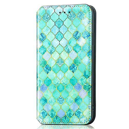 XYX Capa carteira para Mate 20 Lite, [Bloqueio RFID] Capa flip de couro magnética com suporte para mulheres e meninas para Huawei Mate 20 Lite, Emerald