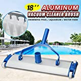WATERTECH SYSTEMS Heavy Duty 17.5 inch Aluminum Weighted Swimming Pool Vacuum Head on