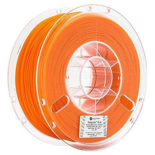 PLA-Filament 1.75mm 3D-Drucker 1 kg (2,2 lbs) Anti-Verstopfungsdimensionsgenauigkeit +/- 0,05 mm-Orange
