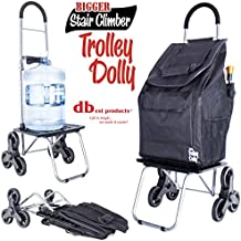 dbest products Stair Climber Bigger Trolley Dolly, Black Grocery Shopping Foldable Cart Condo Apartment