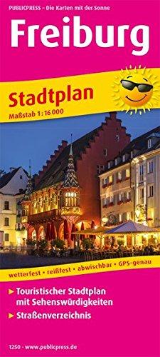 Freiburg: Touristischer Stadtplan mit Sehenswürdigkeiten und Straßenverzeichnis. 1:16000 (Stadtplan / SP)