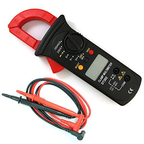 NUZAMAS Medidor de abrazadera digital, multímetro de alcance automático, voltaje y corriente CA/CC, resistencia, prueba de diodos, detección de voltaje sin contacto, protección contra sobrecarga