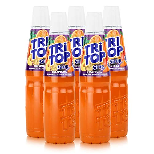 Tri Top Getränke-Sirup Tropical 600ml - Maracuja, Mango, Ananas (5er Pack)