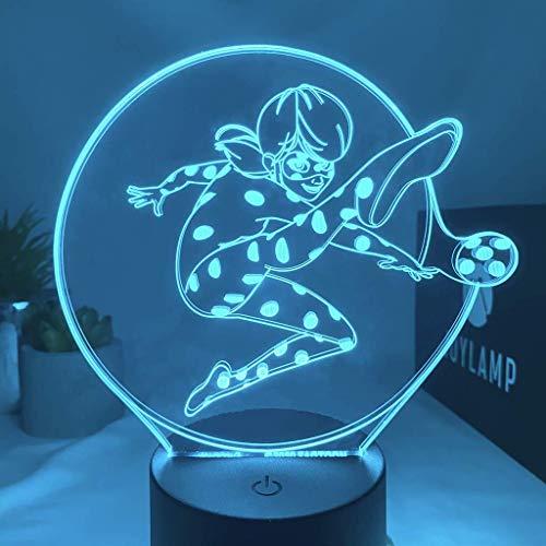 JoyLamp Ladybug de Miraculous – Colección oficial JoyLamp x Miraculous – Lámparas 3D Miraculous