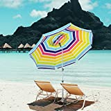 Best beach umbrela - Snail 7 ft Beach Umbrella, Built in S Review