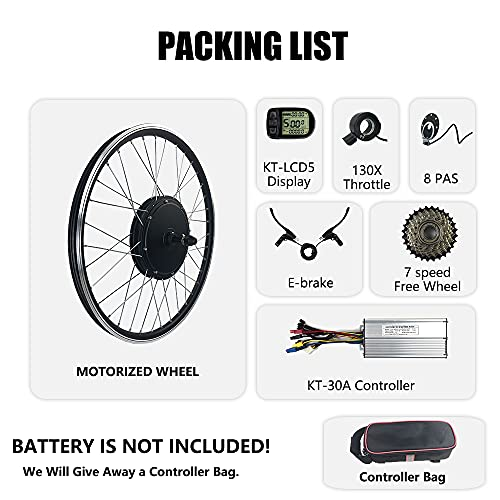 Schuck Electric Bicycle conversion kit 27.5' 48V1000W Rear Wheel Motor E-bike Cycling BLDC Hub motor with LCD5 Display