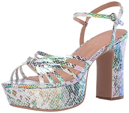 Chinese Laundry Women's Platform Sandal Heeled, Opal Multi, 8.5