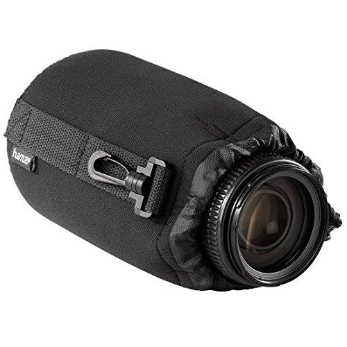 Hama Objektivbeutel, Neopren, Größe L, u.a. passend für Objektive von Herstellern wie Nikon, Canon, Olympus, Panasonic, Sony, Sigma, Tamron, Leica uzw.