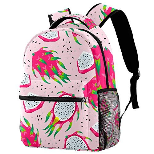 Pink Dragon Fruits Backpacks School Bookbags Casual Daypack Bag for Men and Women