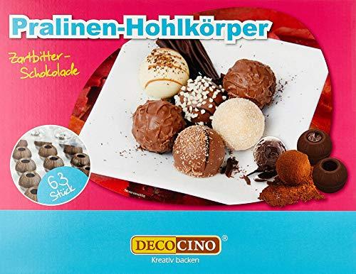 Dekoback Pralinen Hohlkugeln 63 Stück Zartbitter, 1er Pack (1x 176 g)