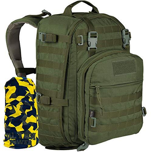 Wisport Rucksack + Ultrapower Schlauchtuch | Daypack | Weekender Backpack | Outdoor | Survival | Reise | Alltag | Wandern | Cordura | Whistler II 35 L, Tarnung:Olive Green
