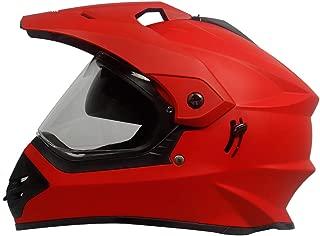 Steelbird Off Road Motocross Helmet with Double Visor (600 MM Large, Matt S.Red Aerodynamic helmet for men)