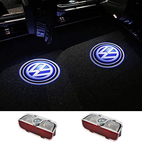 Autotür Logo Licht, Auto Logo Lampe, 2 Autotür Willkommen Licht, Universeller Drahtloser Drahtloser Magnetsensor Schatten Auto Türbeleuchtung