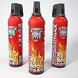 3er Set Lönartz® 750 Feuerlöschspray (Feuerlöscher) (auch für Fettbrände, 3x750g netto)...