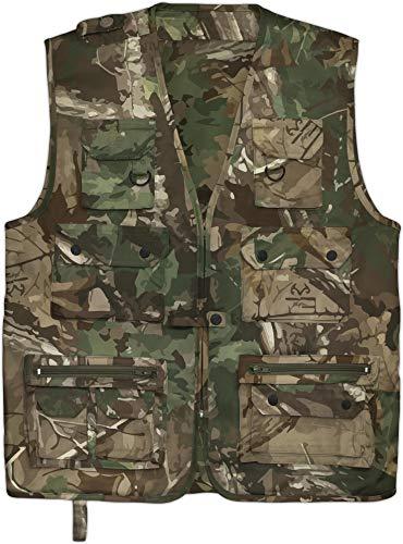 normani Outdoor Jagd- Angler Weste mit vielen praktischen Taschen� Farbe Hunting Camo Größe 3XL