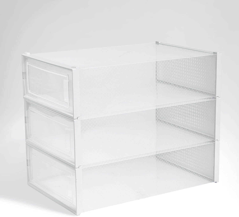 Max 55% OFF Shoe Box with Front Open Plastic Organizer Brand Cheap Sale Venue Bins Clea Door