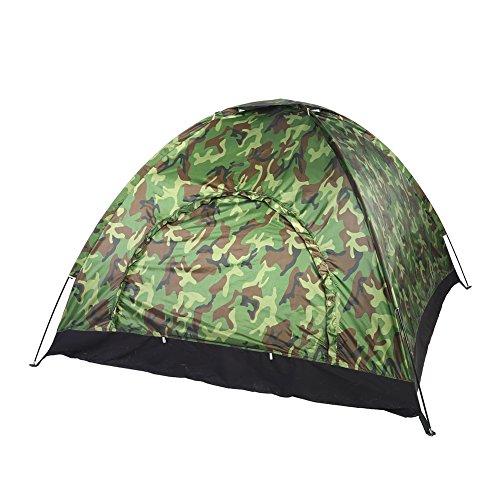 Campingzelt 3-4 Personen Wasserdicht UV Schutz Zelt Camouflage Jurte für Outdoor Sports Wandern Klettern Camping