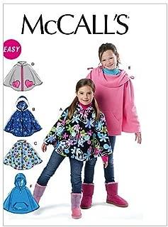 McCall Patterns M6431 Children's/Girls' Ponchos, Size CX (XSM-SML)