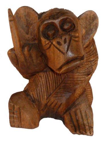 Möbel Mitter Affe mit Stinkefinger, Figur, Dekoration, Geschenkartikel, 10cm