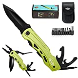 RoverTac Pocket Knife Multitool Folding Knife For Camping Fishing Hiking Outdoor EDC Knife with Pliers Screwdrivers Bottle Opener Safety Lock Durable Sheath Unique Gift