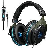 Casque Audio Sades R3, Casque Stéréo Over Ear Noise-isolating PS4 Micro Casque...