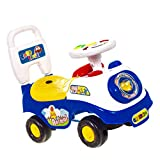 ADEPTNA Push Along My First Ride On Car Kids Toy Cars Boys Girls- First Steps Toddler Walker Learning Toy- Push Button Horn With Sound- Fun And Colourful Ride for Your Toddler (BLUE)
