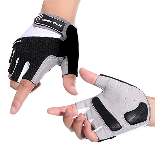 Luvas de ciclismo sem dedos da Besport com design moderno de malha respirável para motocicleta, bicicleta, montanha, dirigir, esportes ao ar livre (G)