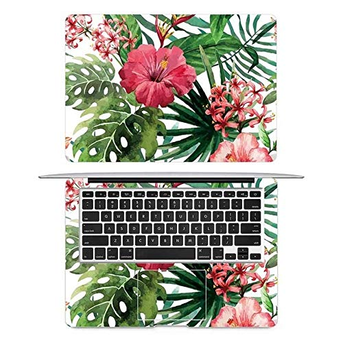 JIAHUI Tropical Flowers Laptop Sticker For MacBook Decal Air 11' 13' Pro 16' Retina 12 15 Inch HP Mac Book Protective Full Cover Skin (Application Laptop Size : Retina 12 inch, Color : AC side)