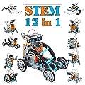Juguetes Stem para niños de 8 años Kit de Robot Solar 12 en 1 Aprendizaje Educativo Ciencia Construcción de Juguetes con alicates para niños de 8-12 años de TOYSTD