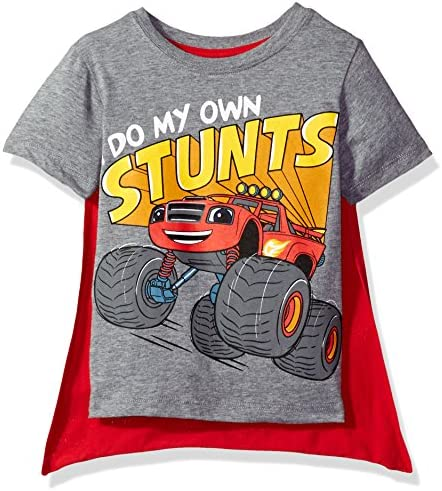Nickelodeon Boys Toddler Blaze and The Monster Machines Cape T Shirt Heather Grey 2T product image